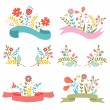 Beautiful floral banners — Stock Vector