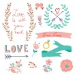 Romantic love collection — Stock Vector