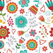Sömlös blommönster — Stockvektor