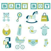 Baby boy collection — Stock Vector