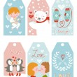 Valentines day girft tags — Stock Vector