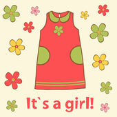 It`s a girl card — Stock Vector