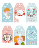 Valentines day girft tags — Vettoriale Stock