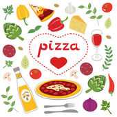 Pizza collection — Stock Vector