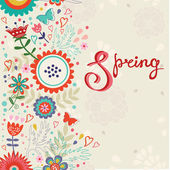 Spring card — Stock Vector