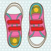 Sports shoes for a girl — Stock Vector