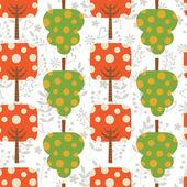 Colorful trees pattern — Stock vektor