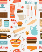 Baking seamless pattern — Vetorial Stock