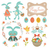 Easter collection — Stock Vector