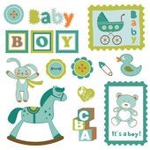 Baby boy toys — Stock Vector