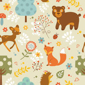 Woodland pattern — Vector de stock