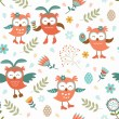 Cute Easter owls pattern — Stock Vector #44544169