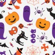 Colorful Halloween pattern — Vector de stock  #44617443