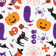 Colorful Halloween pattern — Vecteur #44617443