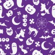 Seamless Halloween background — Vector de stock