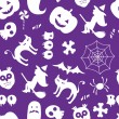 naadloze halloween patroon — Stockvector