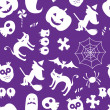 naadloze halloween patroon — Stockvector  #44618257