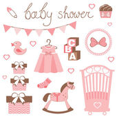 Little lady baby shower — Stock Vector