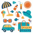Summer vacation icons — Stock Vector #44758881