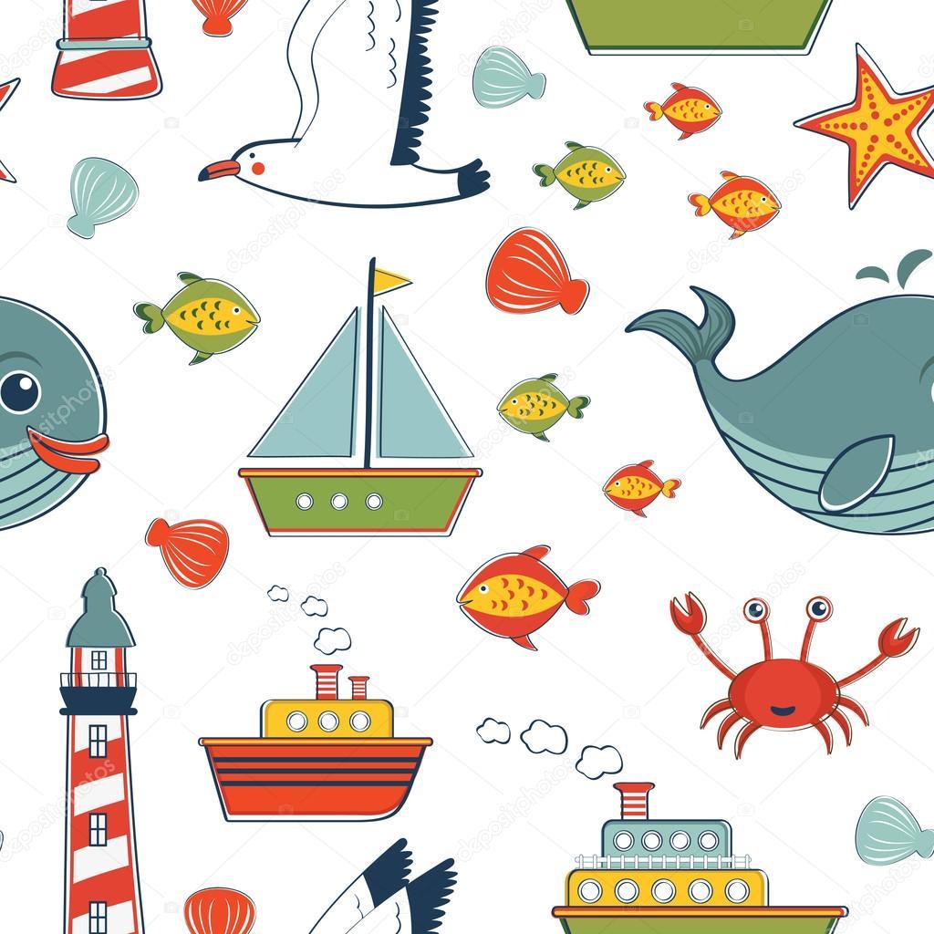 海洋模式 — 图库矢量图片 #44758993