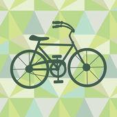 Bicicleta sobre um fundo geométrico — Vetorial Stock