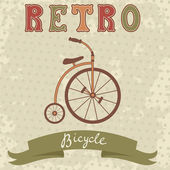 Retro style bicycle — Stock Vector