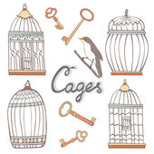 Cages collection — Stock Vector