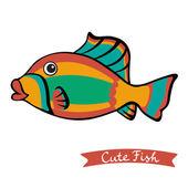 Cute fish — Stock Vector