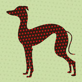 Dotted greyhound — Stock Vector