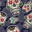 Sugar skulls pattern — Vecteur #46221197