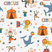 Fun circus pattern — Stock Vector