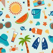 Summer seamless pattern — Stock Vector