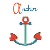 A is for anchor — Stock Vector