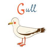 Illustration of G is for Gull — Stock Vector