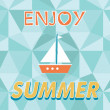 Enjoy summer vector typography — Stock Vector #47628127