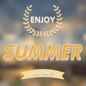 Enjoy summer vector typography — Stock Vector