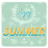 Enjoy summer card — Stock Vector