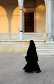 Religious Muslim Woman Walking — Stock Photo