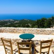 Aegean view from Avgonima — Stock Photo