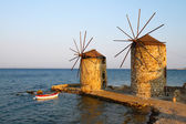 Windmills of Chios — Stock Photo