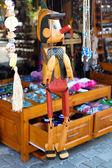 Drewniana pinocchio lalek — Zdjęcie stockowe