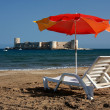 Relax at Kizkalesi Maiden's Castle Beach — Stock Photo #13798679