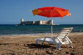 Relax at Kizkalesi Maiden's Castle Beach — Stock Photo