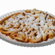 Funnel Cake isolated on white background - Stock Photo