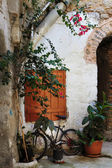 Narrow Streets of Mesta,Chios — Stock Photo