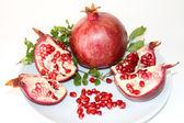 Organic Red Ripe Pomegranate — Stock Photo