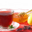 A Cup of Hot Tea with Honey and Lemons — Stock Photo #18408837