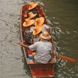 Boat Ride at Damnoen Saduak Floating Market of Thailand — Stock Photo