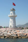 Alanya Lighthouse from The Sea — Stock fotografie
