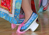 Traditional Chinese High Heel Dance Shoes — Stock Photo